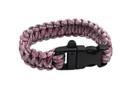 "10"" Paracord Bracelet / Emergency Whistle - Pink 10 Feet Cord"