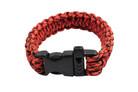 "10"" Paracord Bracelet / Emergency Whistle - Red & Black 10 Feet Cord"