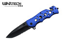 "8"" Tactical SWAT Spring Assisted Opening Rescue Folding Knife - YCS7011BL"