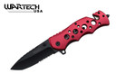 "8"" Tactical SWAT Spring Assisted Opening Rescue Folding Knife - YCS7011RD"