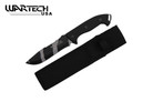 "12"" Camo Black Hunting Tactical Survival Knife with Sheath - Serrated Blade"