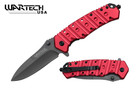 """8"""" Tactical Assisted Opening Rescue Folding Knife - RED"""