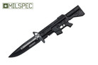"""8"""" M16 Tactical Assisted Opening Rescue Folding Knife - Black"""