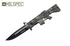 "8"" M16 Tactical Assisted Opening Rescue Folding Knife - Military Camo"