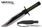 "15"" Two Tone Blade Rambo Survival Knife with Survival Kits"