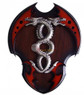 Red Dual Fire Blade Dragon Dagger With Wall Plaque