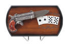 Poker Player Game Card Hand Derringer Revolver Pocket Pistol Folding Gun Knife