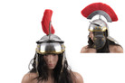 Roman Centurion Officer Helmet with Red Plume Armor