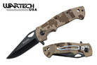 "Wartech 8"" Assisted Folding Knife - CAMO"