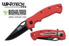 "Wartech 8"" Biohazard Zombie Survival Assisted Folding Knife - ORANGE"