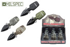 """8"""" Assisted Open 12 pcs Dispaly Water Canteen Knife"""