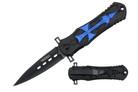 """Wartech """"Cross"""" Assisted Opening Tactical Folder - Blue"""