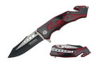 "8"" Assisted Open Black Handle with Red Dragon"