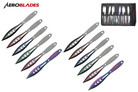 "6.5"" 12 Pcs Set Two Tones Blade Throwing Knife ASTD"