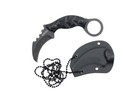 "4.5"" Karambit Tactical Stone-Washed Necklace Knife with K Sheath G10 Handle"