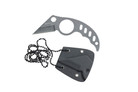 "4.5"" Karambit Tactical Knife Washed Necklace Knife with K Sheath"
