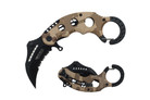 "6"" Assisted Open Karambit Knife with Camo Handle Key Ring"