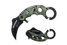 "6"" Assisted Open Karambit Knife with GN Camo Handle Key Ring"