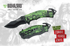 "Biohazard Zombie Survival Gear ""The Horde"" Assisted Opening Rescue Knife Green"