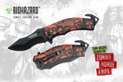 "Biohazard Zombie Survival Gear ""The Horde"" Assisted Opening Rescue Knife- Orange"