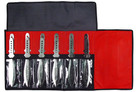 12 PC Dragon Bolt Jumbo Throwing Knife Set with Roll Case 8.5 Inch Knives