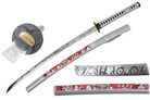 Full Tang Blade Biohazard Zombie Survival Samurai Katana with Real RaySkin Handle
