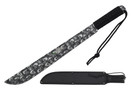 "18"" Black Blade Jungle Zombie Machete with Black Cord Wrapped Handle"