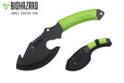 "11"" Biohazard Zombie Survival Axe Green Cord Wrapped"