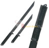 Dual Full Tang Black Ninja Combat Sword With Sheath Katana