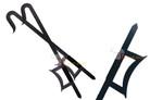 Kung Fu Wu Shu Kabal Black Steel Hook Swords Set