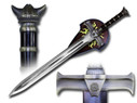 "41"" Heavy Duty Barbarian Viking Sword with Wall Plaque"