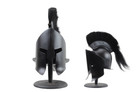Leonidas Greek Spartan Crested Helmet in Black Finish with Rexine Liner