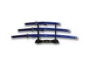 3 Pcs Set Samurai Sword Set with Stand - Blue