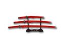 3 Pcs Set Samurai Sword Set with Stand - Red