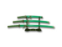 3 Pcs Set Samurai Sword Set with Stand - Green