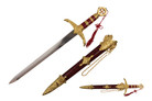 "22"" Robin Hood Medieval Crusader Knight's Short Sword - H209GD"