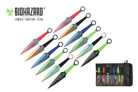 12 Pcs Biohazard Zombie Killer Throwing Knife Set Multi Colors with Sheath 9 inches Thrower - A747712ASTD