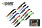 12 Pcs Biohazard Zombie Killer Throwing Knife Set Multi Colors with Sheath 9 inches Thrower - A727712ASTD