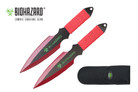 2 Pcs Biohazard Zombie Killer Throwing Knife Set with Sheath 9 inches Thrower - A71772RD