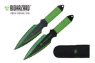 2 Pcs Biohazard Zombie Killer Throwing Knife Set with Sheath 9 inches Thrower - A71772GR