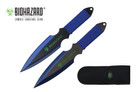 2 Pcs Biohazard Zombie Killer Throwing Knife Set with Sheath 9 inches Thrower - A71772BL