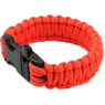 330 Paracord Parachute Cord Military Survival Bracelet with Whistle Orange