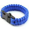 350 Paracord Parachute Cord Military Survival Bracelet with Whistle Blue