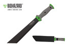 "18"" Biohazard Zombie ""Devil's Harvest"" Machete Rubber Handle"