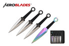 4 Pcs Aero Blades Throwing Knife Set with Sheath 7.5 inches Thrower - A00084BK