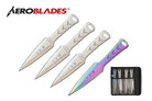 4 Pcs Aero Blades Throwing Knife Set with Sheath 7.5 inches Thrower - A00074CH