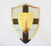 MEDIEVAL KNIGHT SHIELD Brass and Steel All Metal Cross