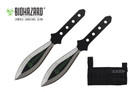 2 Pcs Biohazard Two Tone Throwing Knife Set with Sheath 5.5 inches Thrower - A1040ABK