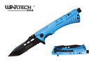 "8"" Wartech Tactical Spring Assisted Tanto Point Folding Knife with Fire Starter - YCS9046BL"
