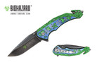 "8"" Biohazard Zombie Spring Assisted Folding Knife - YCS9047BL"
